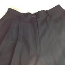 Size 6 DKNY Black Dress Pants 100 Percent Wool Cuffed Bottom image 3