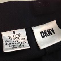 Size 6 DKNY Black Dress Pants 100 Percent Wool Cuffed Bottom image 4
