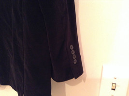 Size 42R 100 Percent Cotton Apt 9 Fully Lined Black Suit Jacket Velvet Fabric image 7