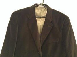 Size 42R 100 Percent Cotton Apt 9 Fully Lined Black Suit Jacket Velvet Fabric image 3