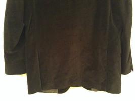 Size 42R 100 Percent Cotton Apt 9 Fully Lined Black Suit Jacket Velvet Fabric image 6