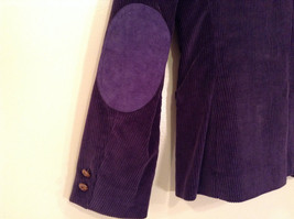 Size 9 Dark Violet Fully Lined Blazer Suede Leather on Elbows by Slices image 3