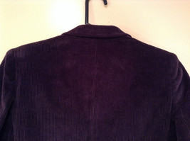 Size 9 Dark Violet Fully Lined Blazer Suede Leather on Elbows by Slices image 5