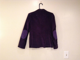 Size 9 Dark Violet Fully Lined Blazer Suede Leather on Elbows by Slices image 2