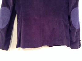 Size 9 Dark Violet Fully Lined Blazer Suede Leather on Elbows by Slices image 4