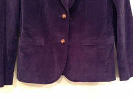 Size 9 Dark Violet Fully Lined Blazer Suede Leather on Elbows by Slices image 6