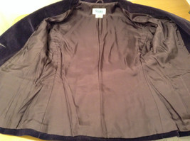 Size 9 Dark Violet Fully Lined Blazer Suede Leather on Elbows by Slices image 11