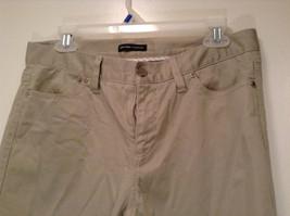 Size 8 Tall New York and Company Khaki Capri Pants Button Zipper Closure Pockets image 2