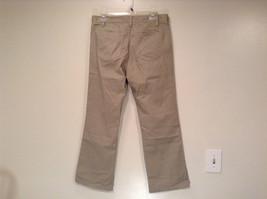 Size 8 Tall New York and Company Khaki Capri Pants Button Zipper Closure Pockets image 3