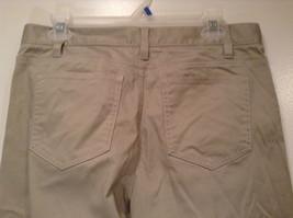 Size 8 Tall New York and Company Khaki Capri Pants Button Zipper Closure Pockets image 4