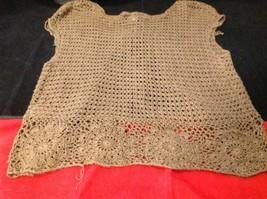 Bandolino brown short sleeve vest size large image 7