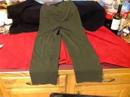 Banana Republic Small pair size 2 Olive pants wool rayon made in Italy image 2