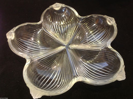 Vintage West German Walther crystal glass serving dish by Mikasa flower ridged