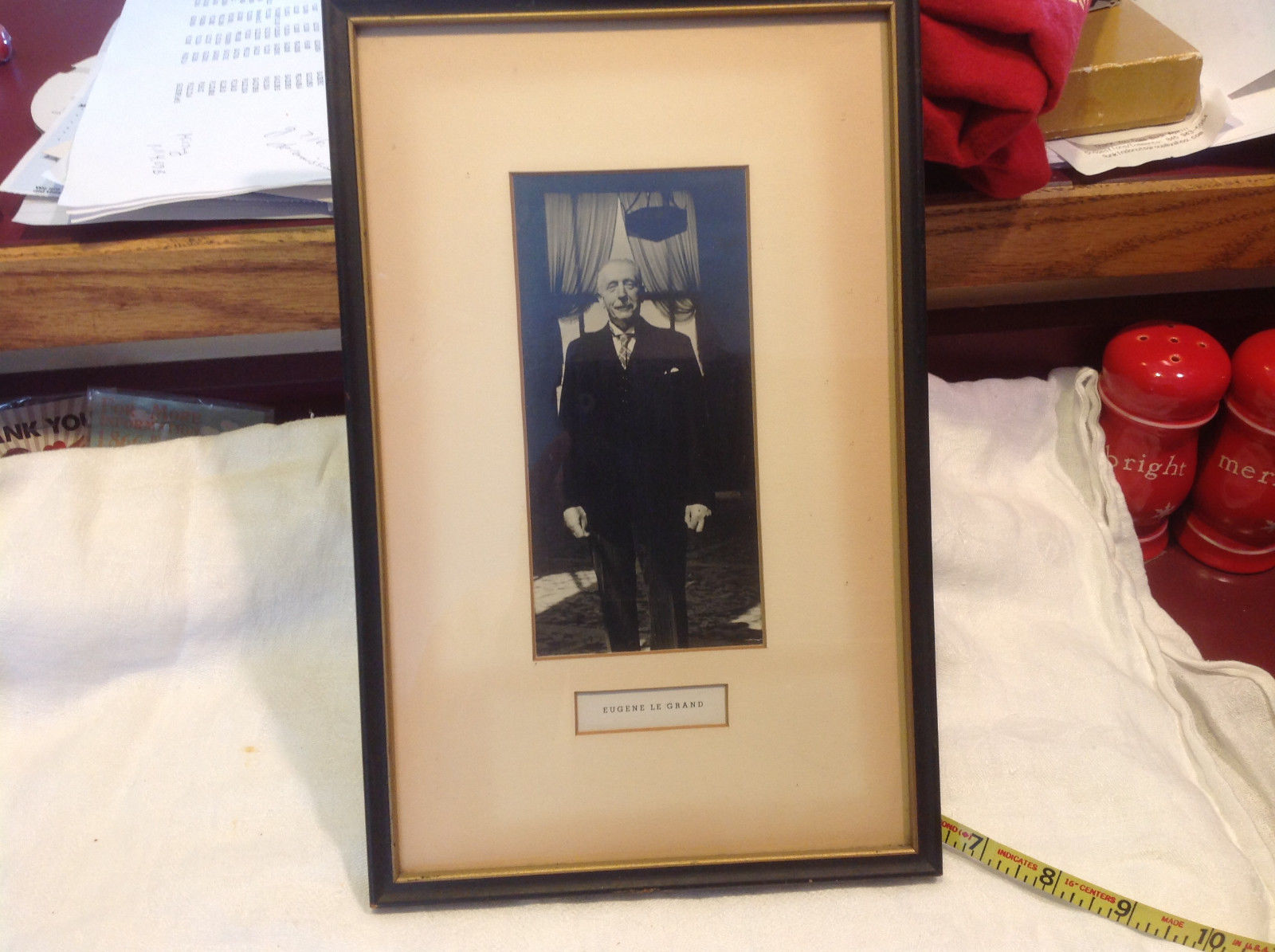 Vintage framed matted photograph of Eugene Le Grand