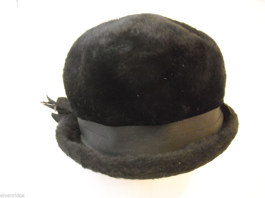 Vintage furry black hat from Austria