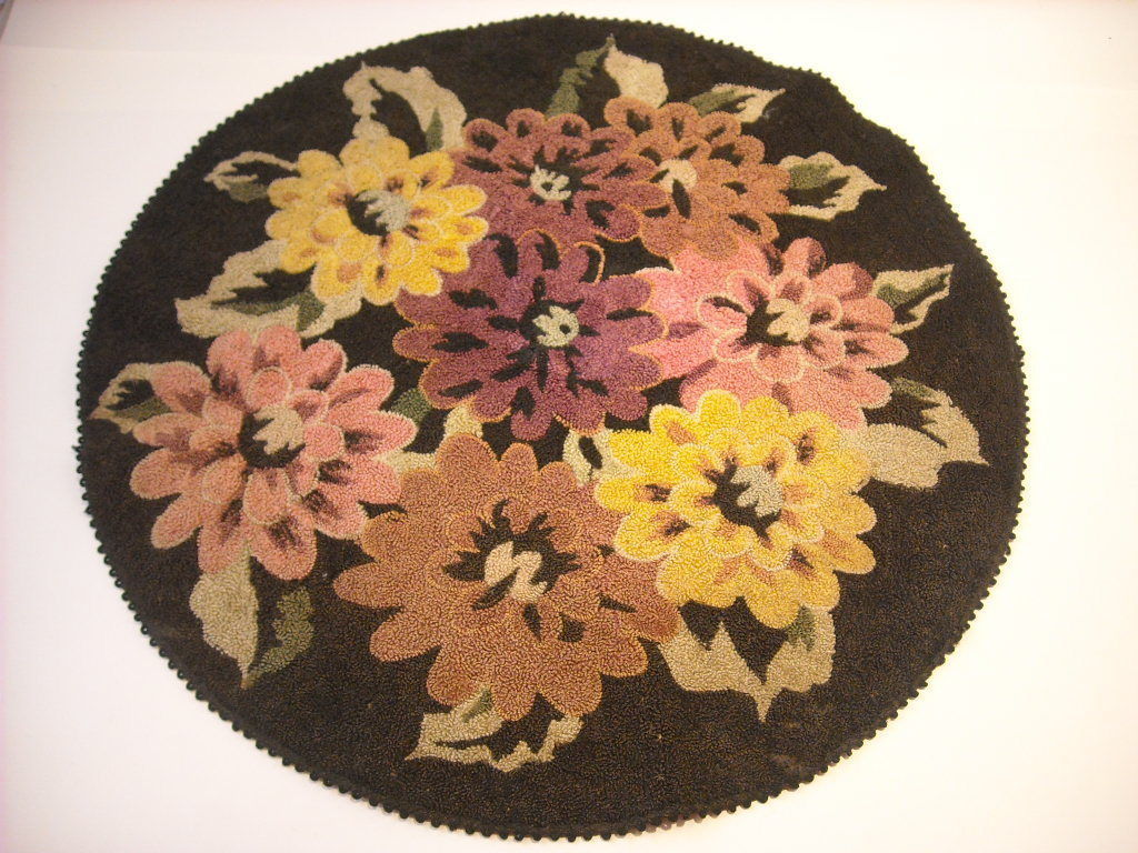 Vintage floral embroidered round furniture cozy