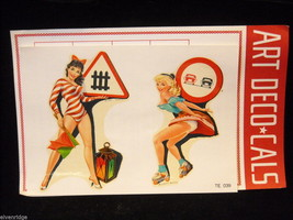 Vintage girl pinup decals from Milan Italy Art Deco-Cals by Pezzetti and Figlio