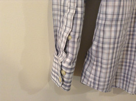 Banana Republic Slim Fit Button Up Shirt White with Blue Brown Stripes Size M image 7