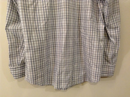 Banana Republic Slim Fit Button Up Shirt White with Blue Brown Stripes Size M image 6