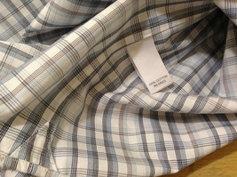 Banana Republic Slim Fit Button Up Shirt White with Blue Brown Stripes Size M image 9