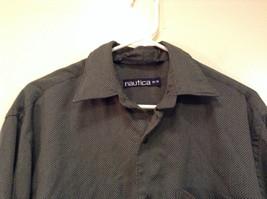 Size Medium Long Sleeve Button Up Front Nautica Dark Gray Casual Shirt image 3