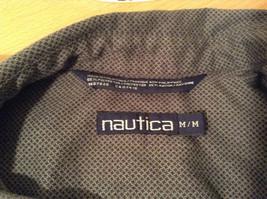 Size Medium Long Sleeve Button Up Front Nautica Dark Gray Casual Shirt image 7