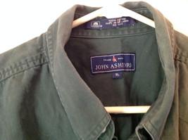 Size XL John Ashford Green Collared Short Sleeve Collared Button Down Shirt image 6