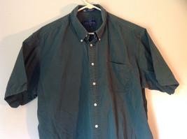 Size XL John Ashford Green Collared Short Sleeve Collared Button Down Shirt image 2