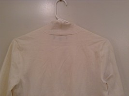 Size Small Natural White V Neck Jones New York Top Buckle Front Decoration image 5