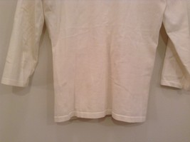 Size Small Natural White V Neck Jones New York Top Buckle Front Decoration image 6
