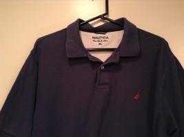 Size XL Dark Blue Short Sleeve 100  Percent Cotton Nautica Casual Polo Shirt image 3