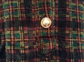 Size M Red Black Green Plaid Long Sleeve Dress Jones New York Metal Buttons image 5