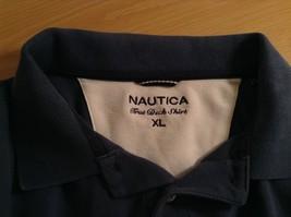 Size XL Dark Blue Short Sleeve 100  Percent Cotton Nautica Casual Polo Shirt image 6