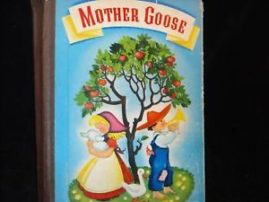 Vintage childrens 1941 mother goose hardcover Snow