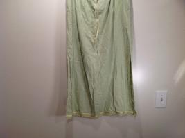 Size XL Katie Lee Light Green Long Skirt Side Slits Stretchy Waist image 2