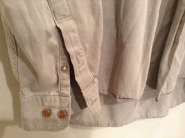 Size M Country Road Work Wear Long Sleeve Gray Button Shirt 100 Percent Cotton image 4