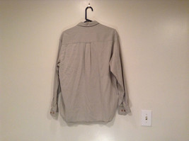 Size M Country Road Work Wear Long Sleeve Gray Button Shirt 100 Percent Cotton image 5