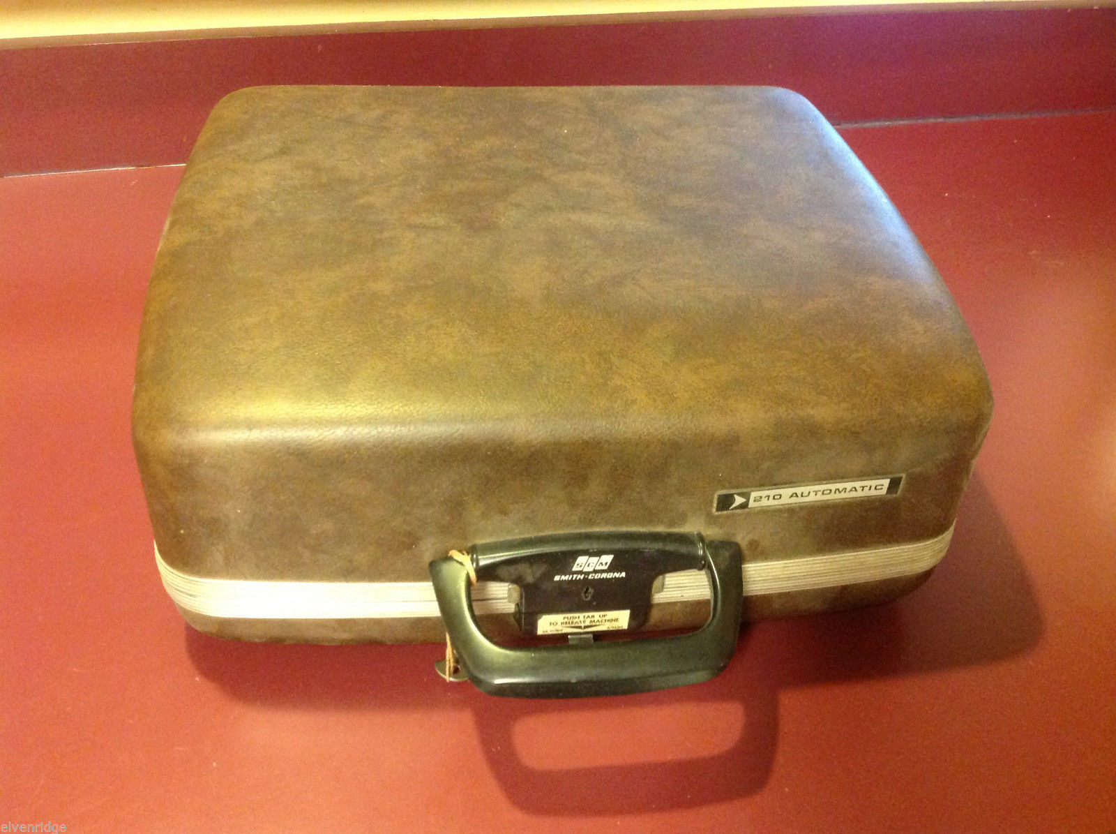 Vintage empty Smith Corona hardcase carry box for typewriter for repurposing