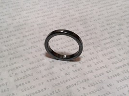 Skinny Flat Hematite Natural Stone Ring Sizes 6.5 to 9 Shiny Metallic Look image 4