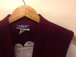 Sleeveless Burgundy Crest Vest Men Crew New image 2
