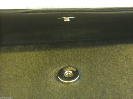 Small Black Purse with Rhinestones and Optional Silver Chain Shoulder Strap image 4