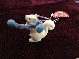 Small Porcelain Squirrel Figurines Different Colored Scarves Sold Separately image 3