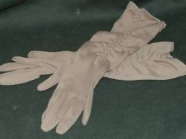 Vintage pair of ladies brown nylon long gloves