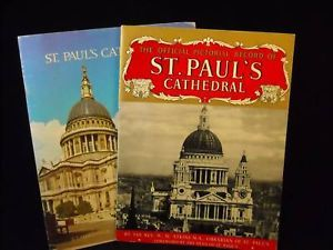 Vintage lot of 2 Saint paul's cathedral offical booklet