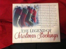 Wall Plaque Legend of the Christmas Stockings with story and glitter
