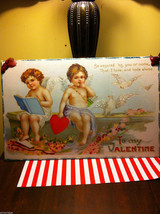 Vintage style  Love you  Valentine's Day Heart Holiday Wall Decor cherubs