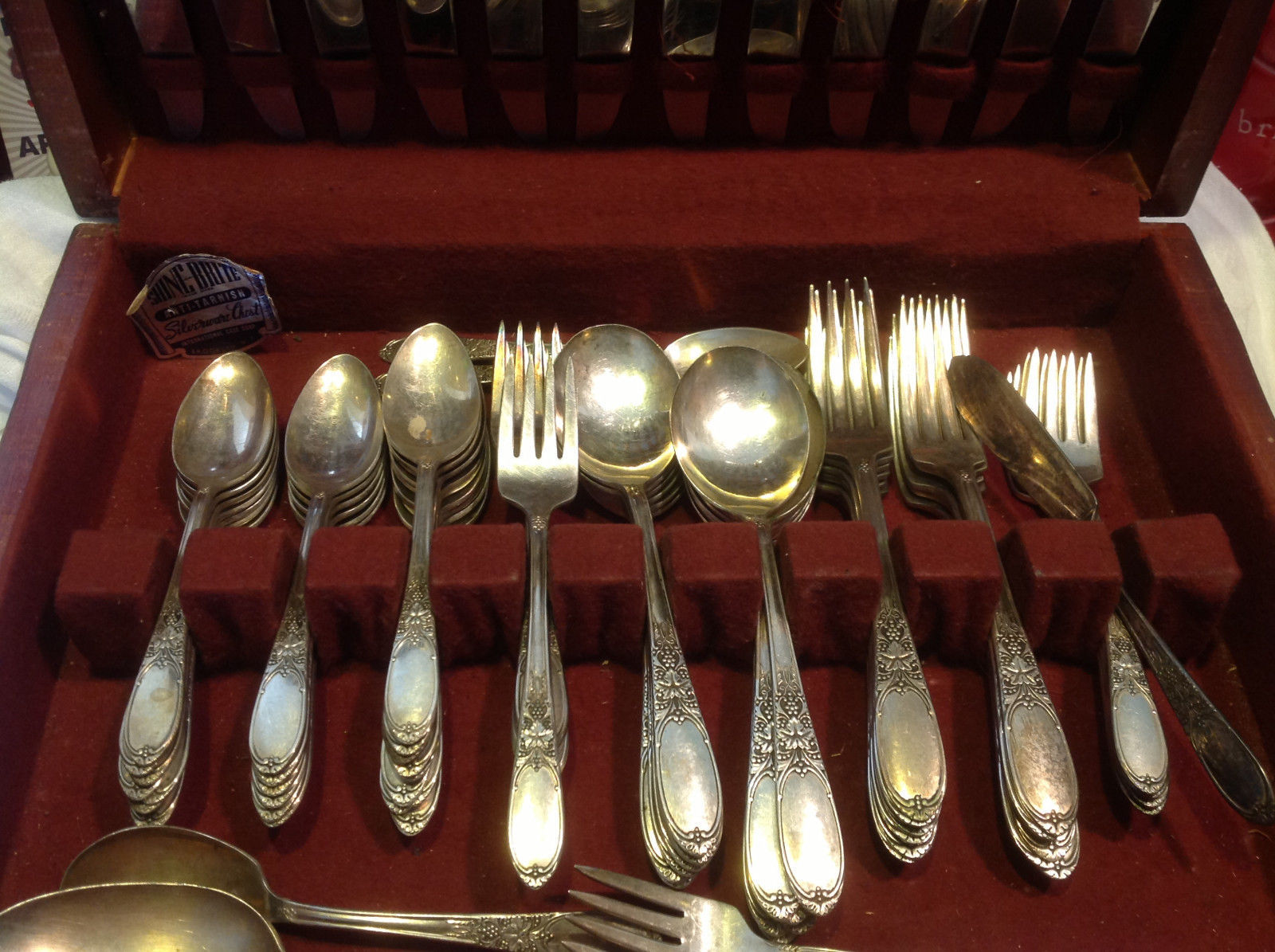 Vintage silverplate set Burgundy-Champaigne 1934 Wm Rogers Eagle & Star Mark