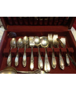 Vintage silverplate set Burgundy-Champaigne 1934 Wm Rogers Eagle & Star ... - $346.50