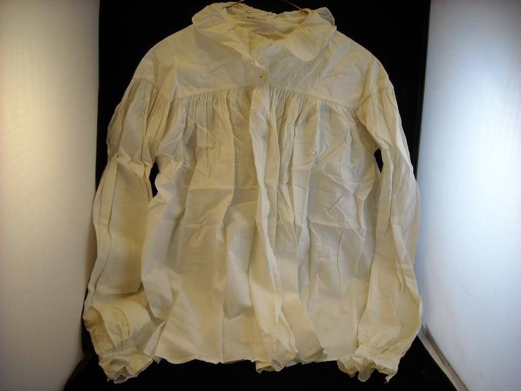 Vintage women's blouse white with ruffled collar and sleeve