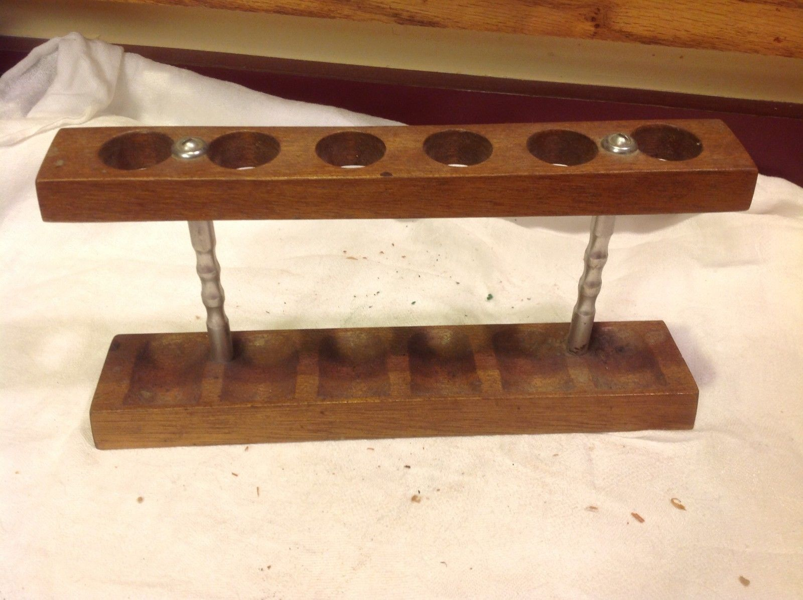 Vintage wood pipe stand from estate